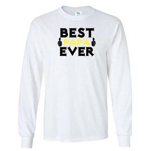 Youth Kids BEST PAPA EVER T-Shirt Long Sleeve